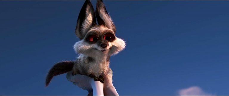 """Petit renard, personnage dans """"Le Voyage d'Arlo""""."""