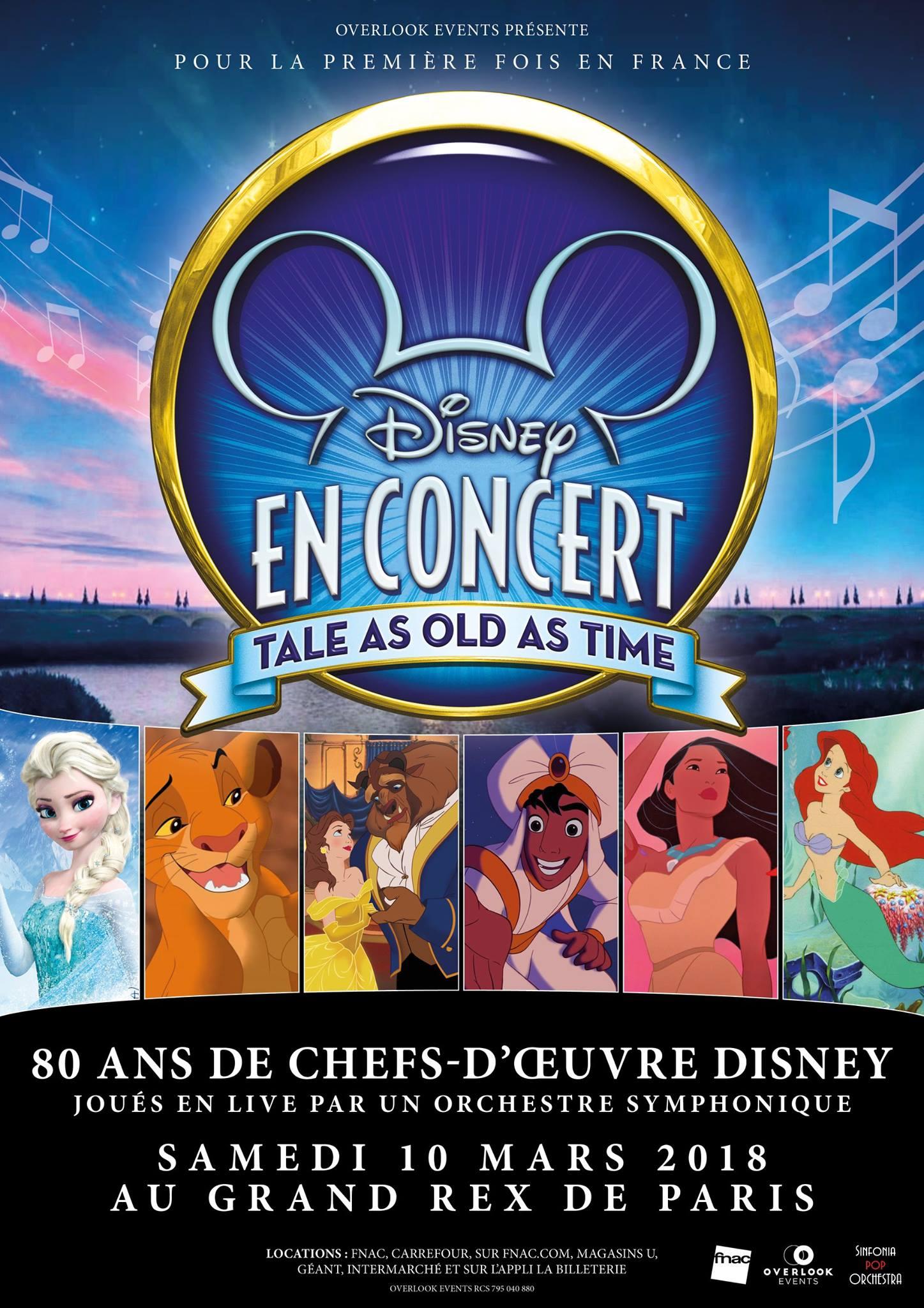 affiche poster disney en concert