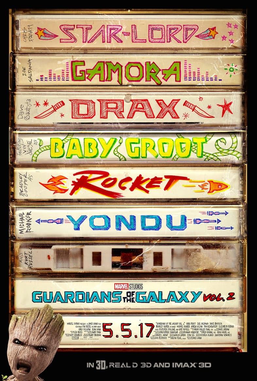 affiche poster gardiens galaxie guardians vol 2 marvel disney