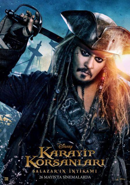 affiche poster pirate caraibes disney character caribbean vengeance salazar dead men tell tales
