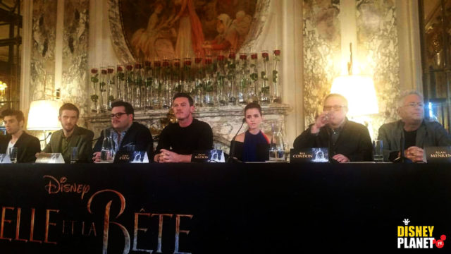 conference presse casting belle bête beauty beast disney pictures