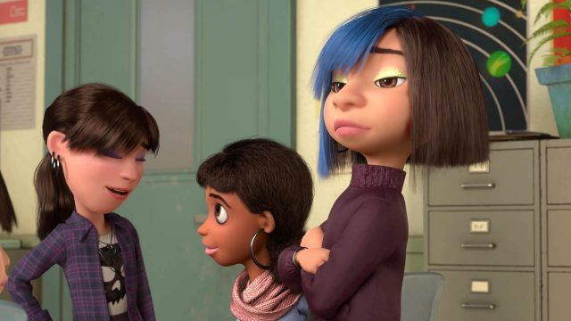 fille cool girl personnage character vice versa inside out disney pixar