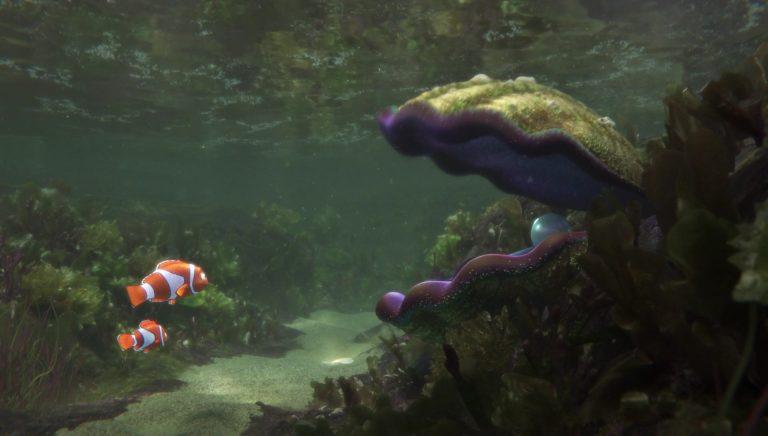 """L'huître, personnage dans """"Le Monde de Dory""""."""
