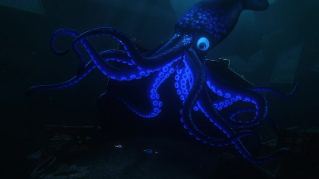 calamar giant squad personnage character monde finding dory disney pixar