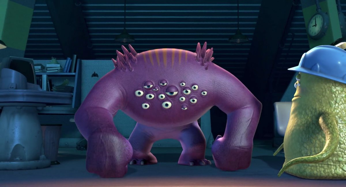 wally personnage character monstres monsters inc cie disney pixar