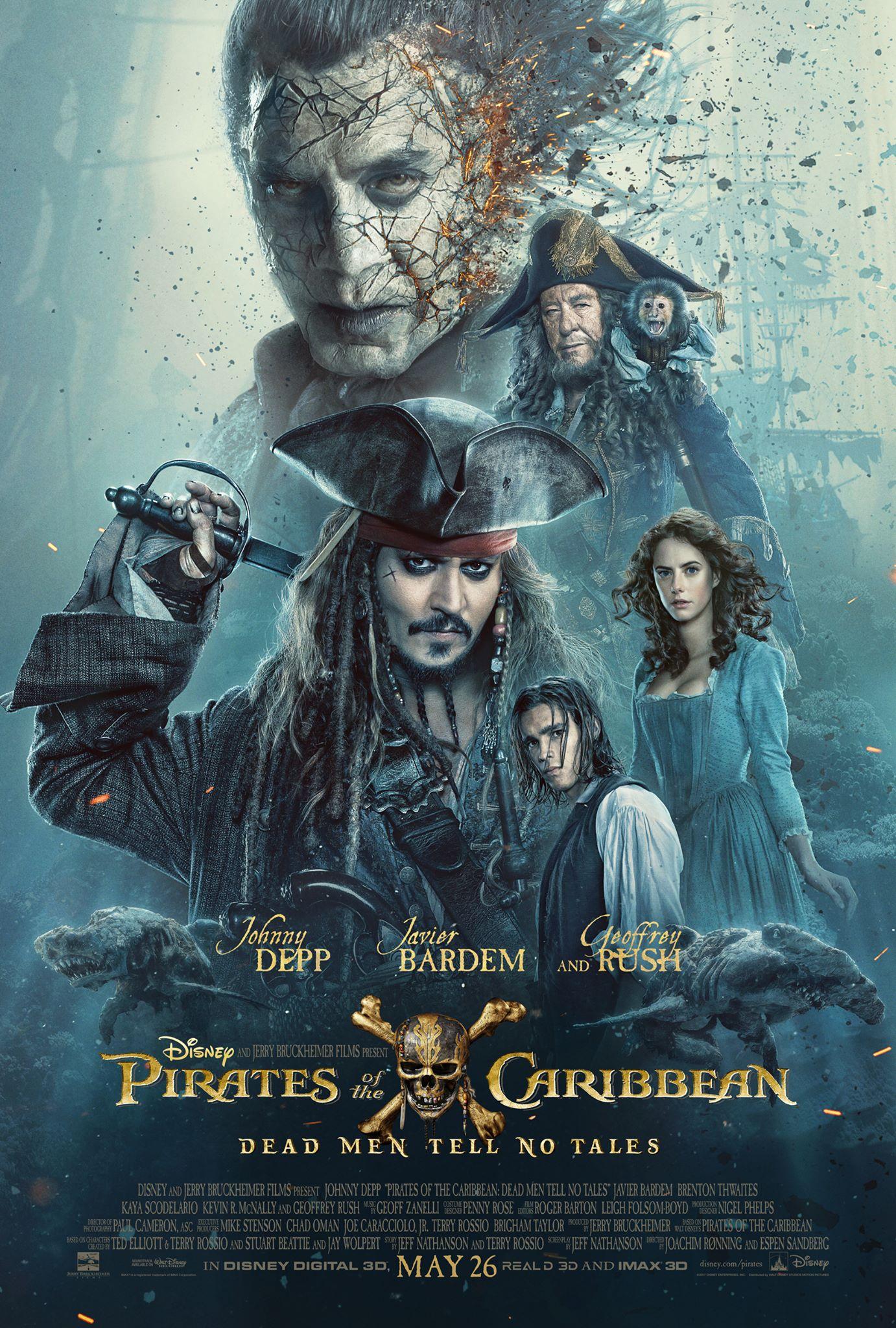 affiche poster pirates caraibes caribbean vengeance salazar dead men tales disney pictures