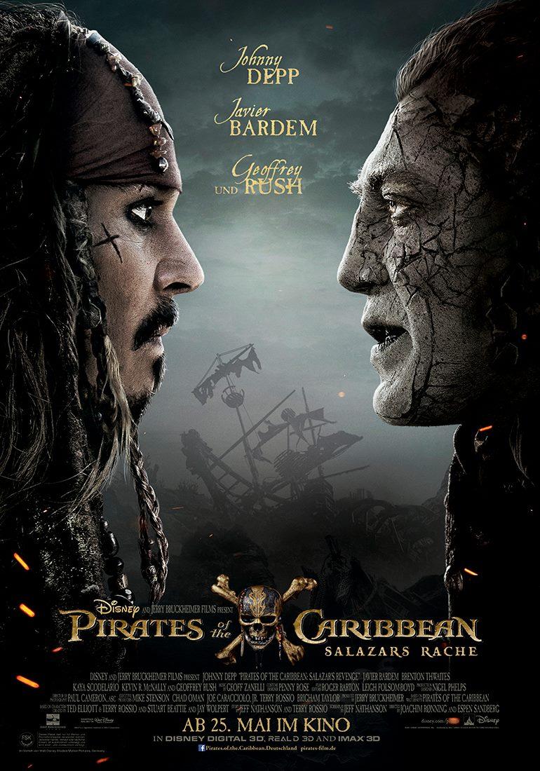 affiche poster pirate caraibes caribbean salazar dead disney