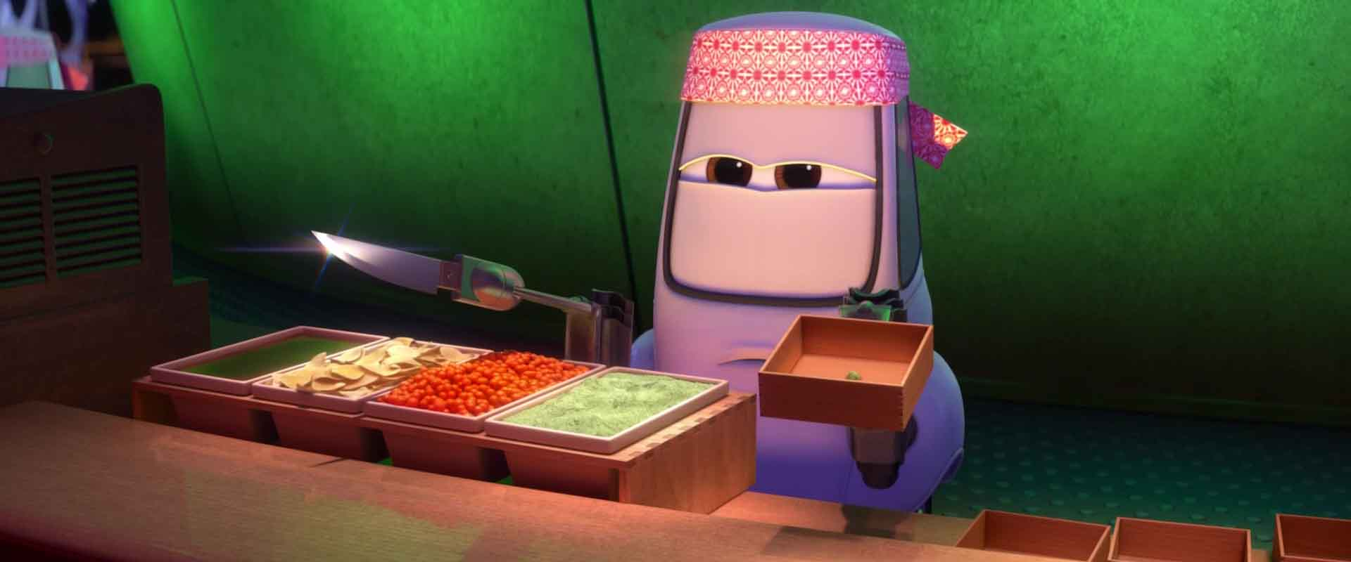 chef sushi personnage character pixar disney cars 2