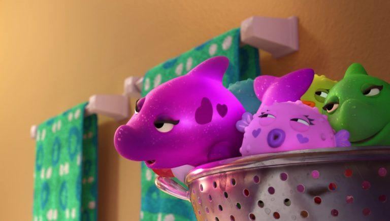 """Dolphina, personnage dans """"Toy Story Toons : Rex, le roi de la fête""""."""