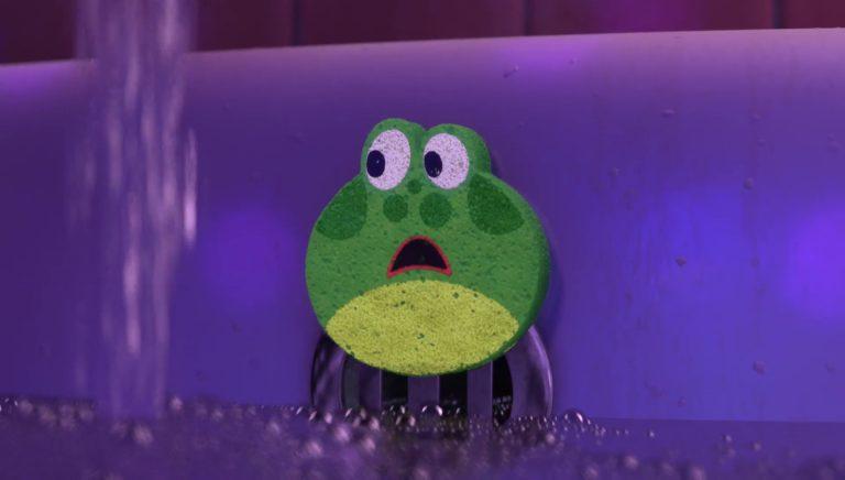 """L'éponge, personnage dans """"Toy Story Toons : Rex, le roi de la fête""""."""