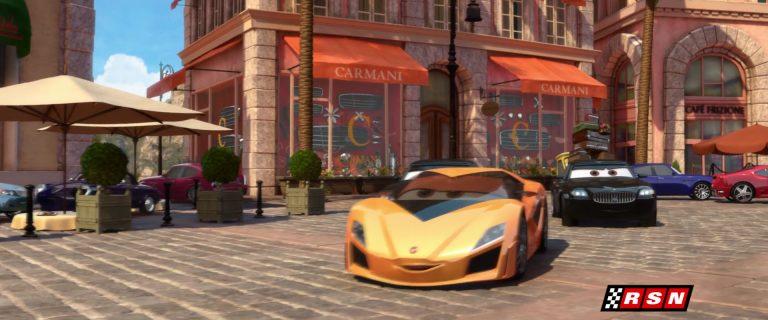 """Fabrizio, personnage dans """"Cars 2""""."""