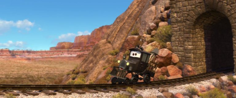 """Galloping Geargrinder, personnage dans """"Cars 2""""."""