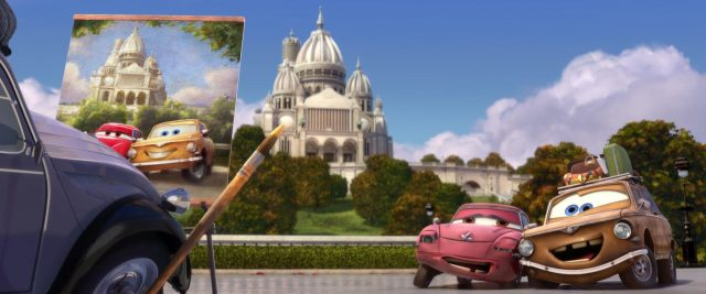 geartrude personnage character cars disney pixar
