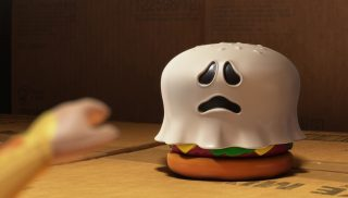 ghost burger personnage character pixar disney toy story toons mini buzz small fry