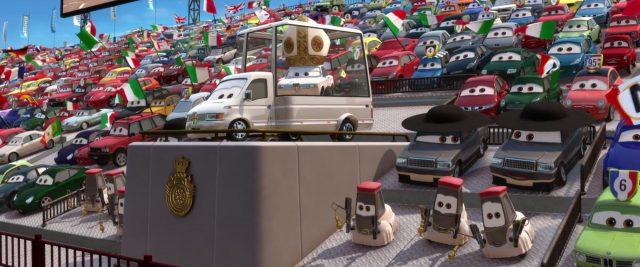 papamobile personnage character cars disney pixar