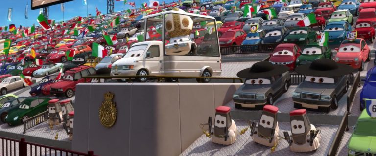"""Pape Pinion IV, personnage dans """"Cars 2""""."""