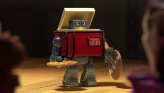 pizza bot    personnage character pixar disney toy story toons mini buzz small fry
