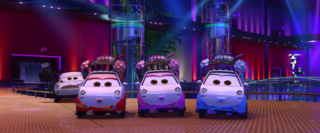 shigeko personnage character pixar disney cars 2
