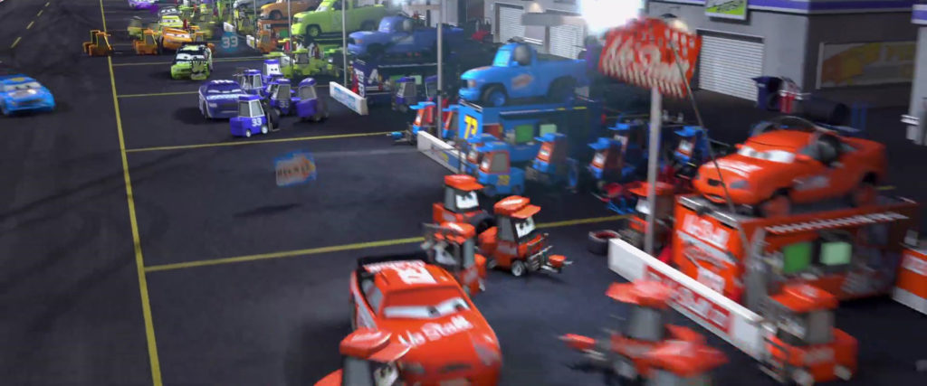 shirley spinout personnage character pixar disney cars