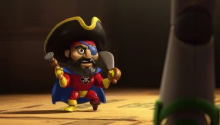 super pirate    personnage character pixar disney toy story toons mini buzz small fry