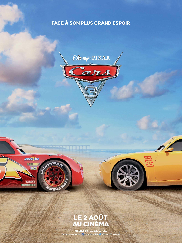 affiche poster cars 3 pixar disney