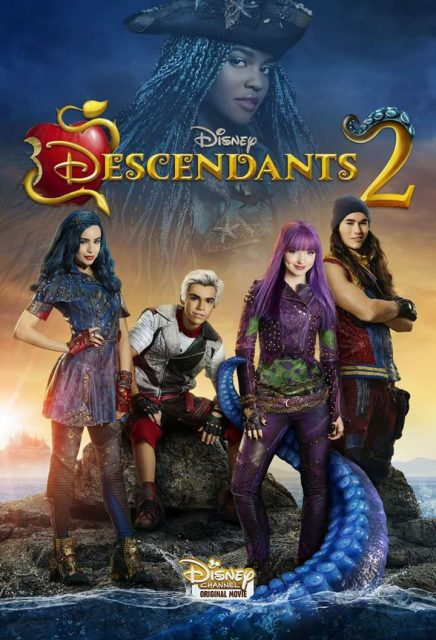 affiche poster descendants 2 disney channel