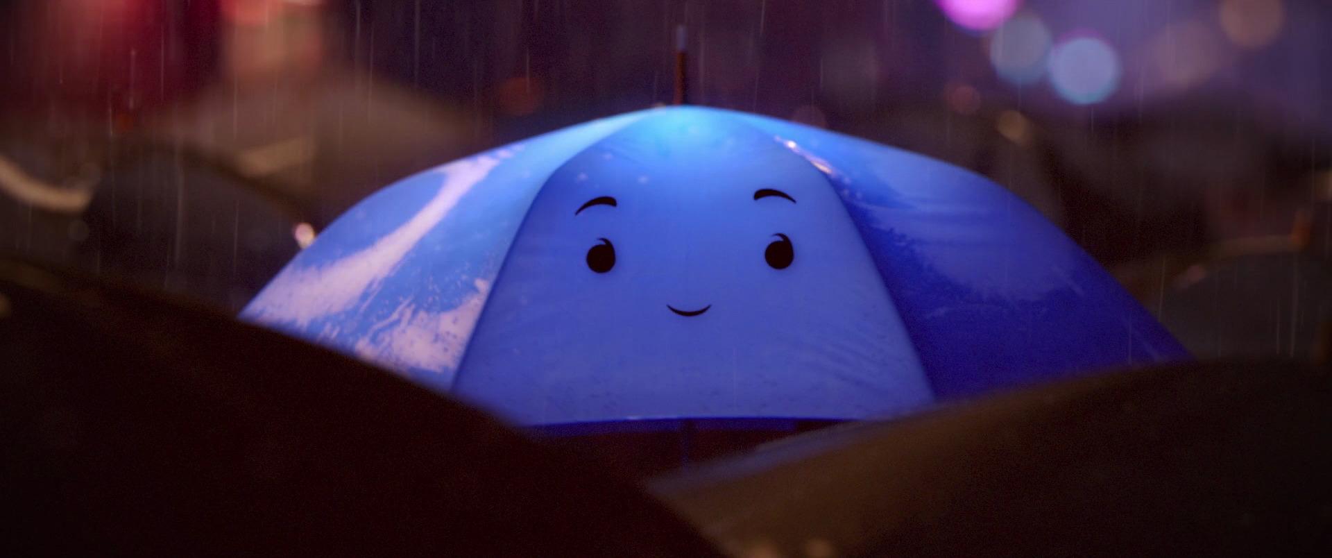 personnage character pixar disney parapluie bleu blue umbrella