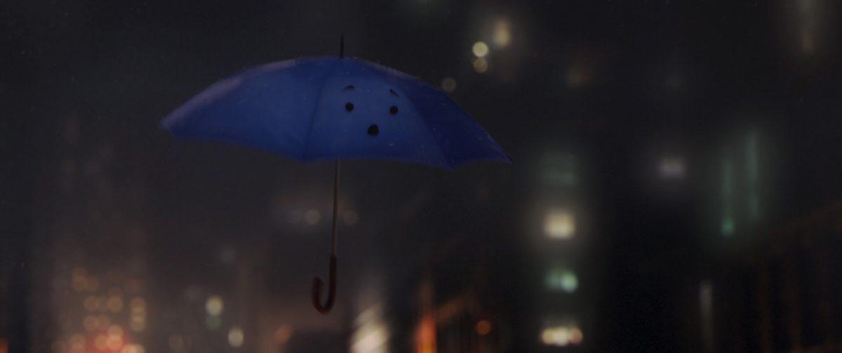 blue red dream parapluie bleu personnage character disney pixar