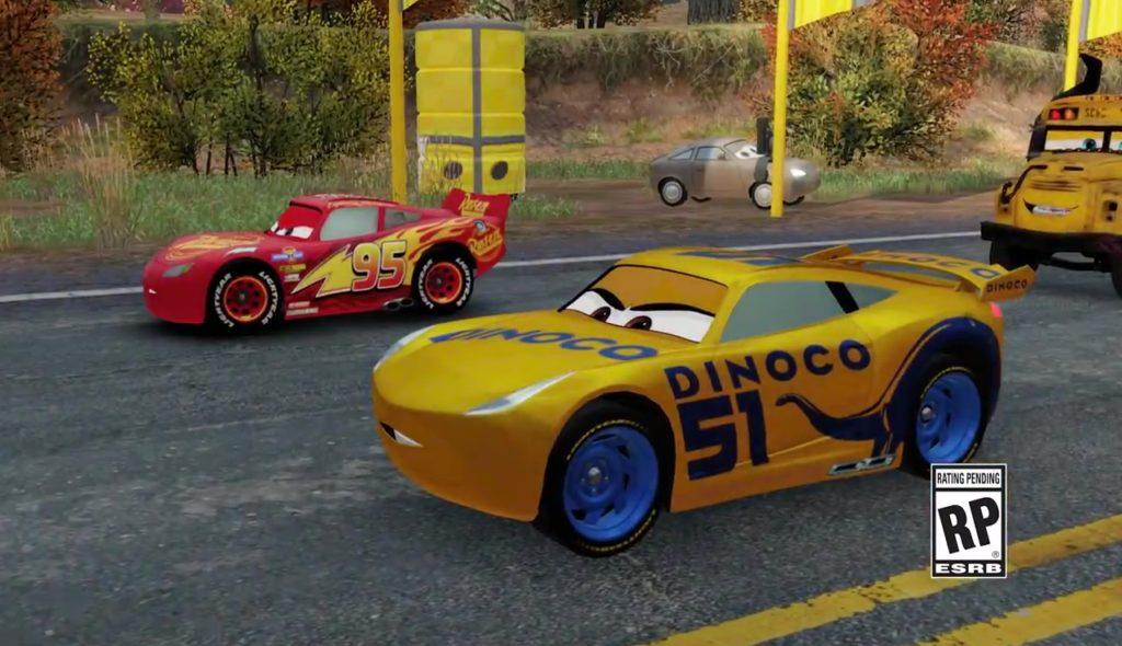 capture cars 3 driven to win jeu vidéo game disney pixar