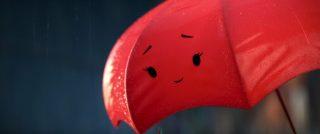 red  personnage character pixar disney parapluie bleu blue umbrella