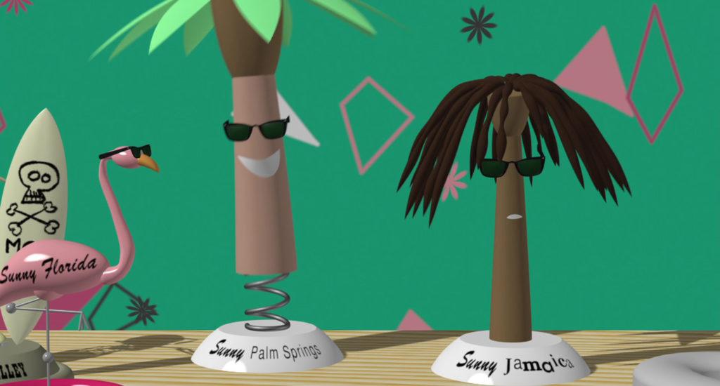 sunny jamaica personnage character pixar disney knick knack