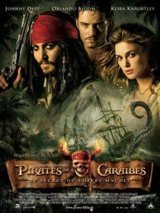 affiche poster pirate caraibes disney character caribbean secret coffre maudit dead man chest