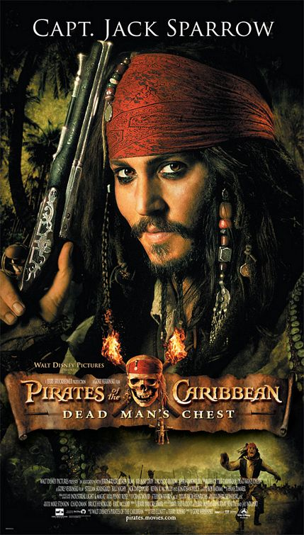 affiche poster pirate caraibes disney character caribbean secret coffre maudit dead man chest
