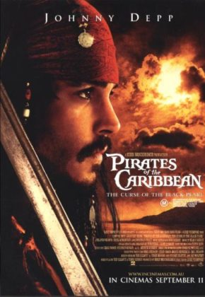affiche poster pirate caraibes disney character caribbean malediction curse black pearl
