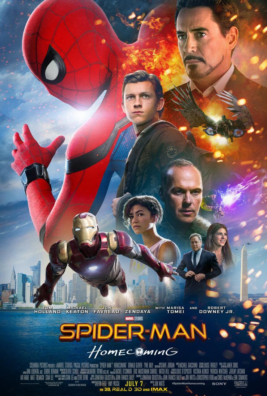 affiche spider man homecoming poster marvel disney