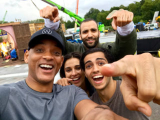 aladdin disney film casting will smith naomi scott Marwan Kenzari Mena Massoud