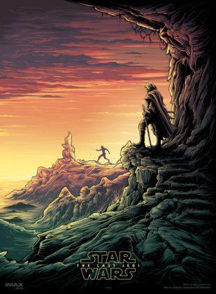 Affiche Poster Star Wars 8 Dernier Jedis Last Lucasfilm Disney Imax