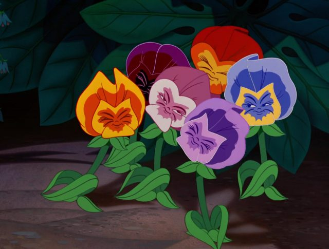 Fleur Flower Personnage Alice au pays des merveilles Disney Character Wonderland