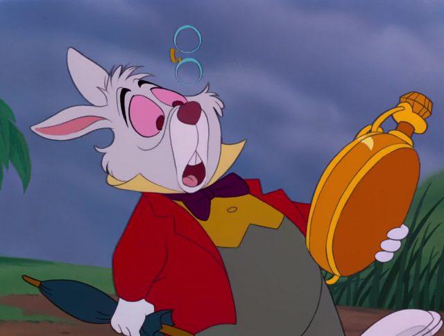 Lapin blanc White rabbit Personnage Alice au pays des merveilles Disney Character Wonderland