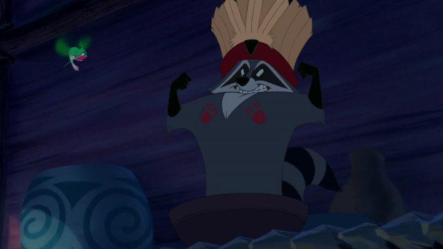 Meeko Personnage Character Disney Pocahontas légende indienne