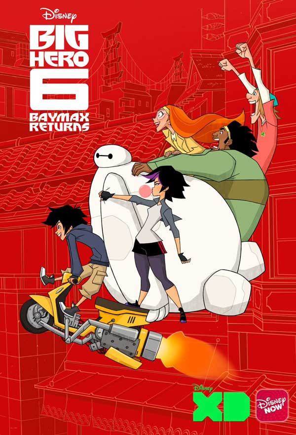 Affiche Poster Big Hero 6 Nouveaux héros baymax returns Disney