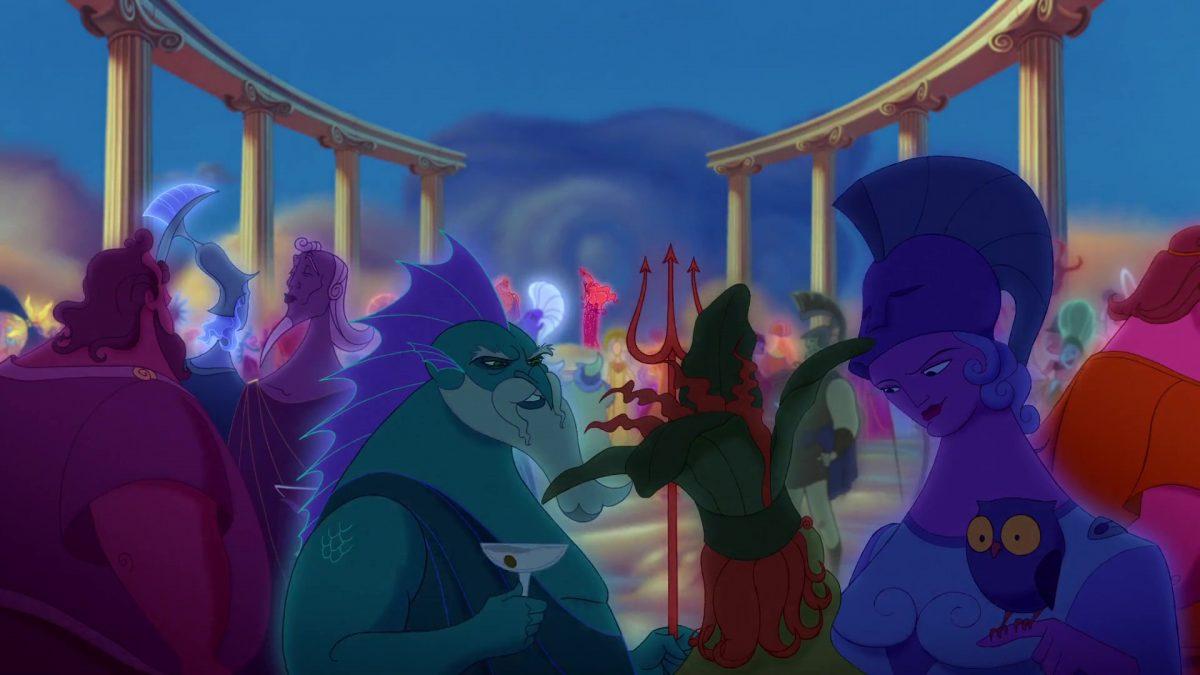 Poséidon Personnage Character Disney Hercule