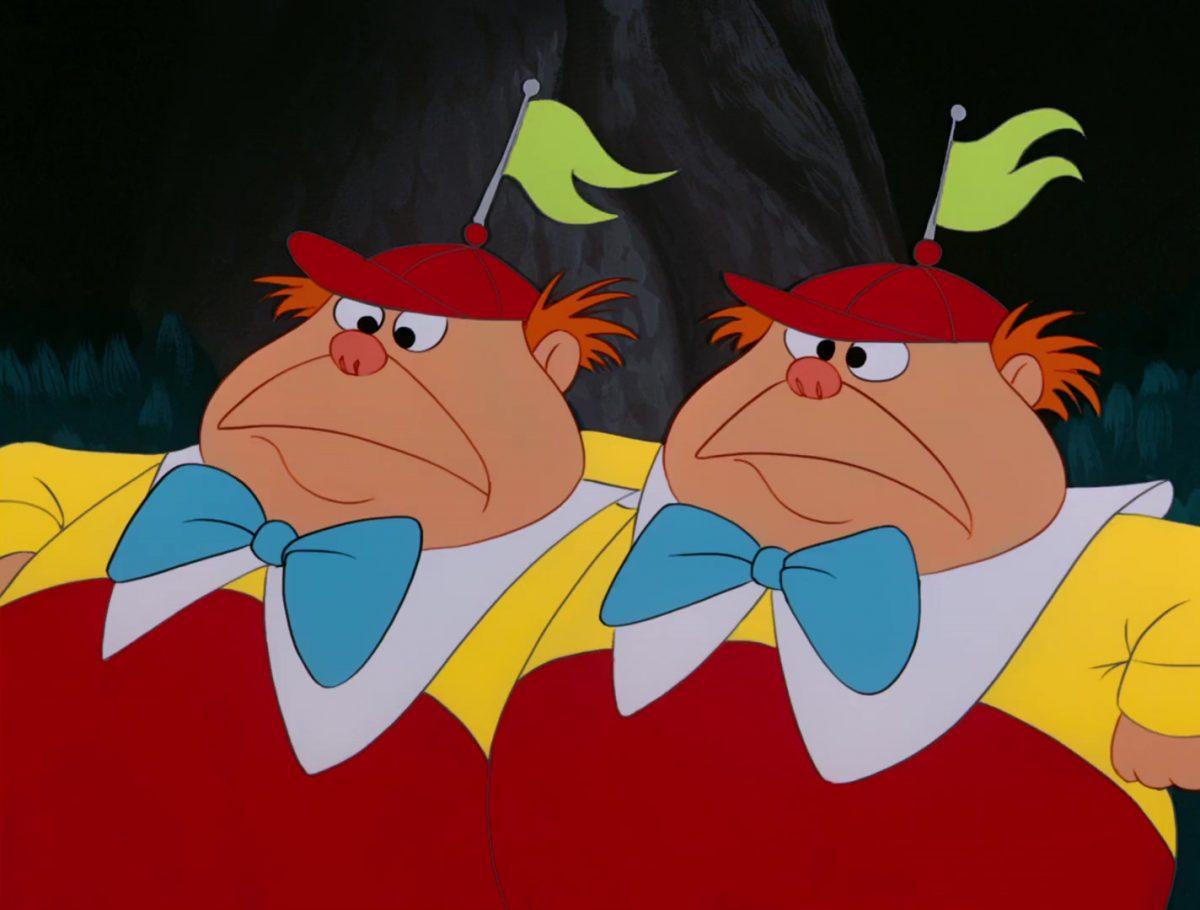 Tweedle Dee Dum Personnage Alice au pays des merveilles Disney Character Wonderland