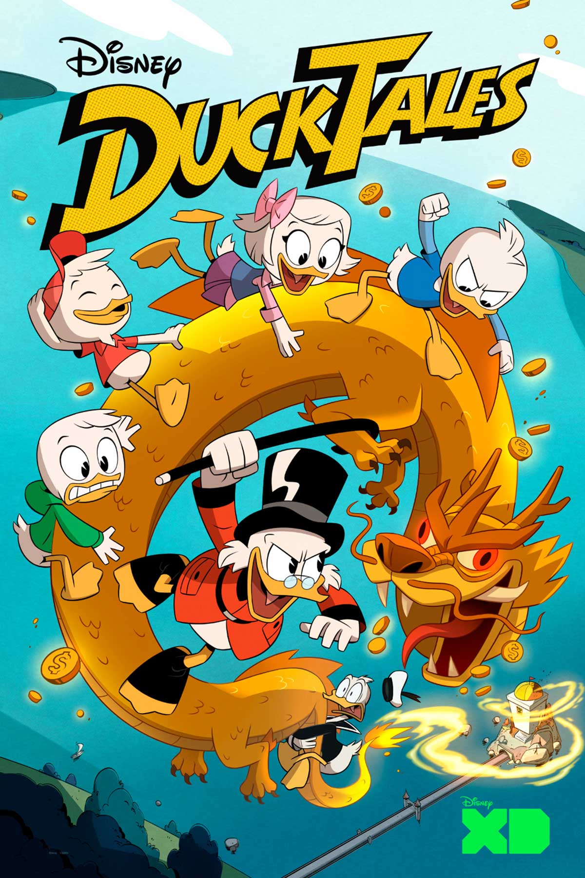 affiche bande picsou atlantide poster disney ducktales woo-oo