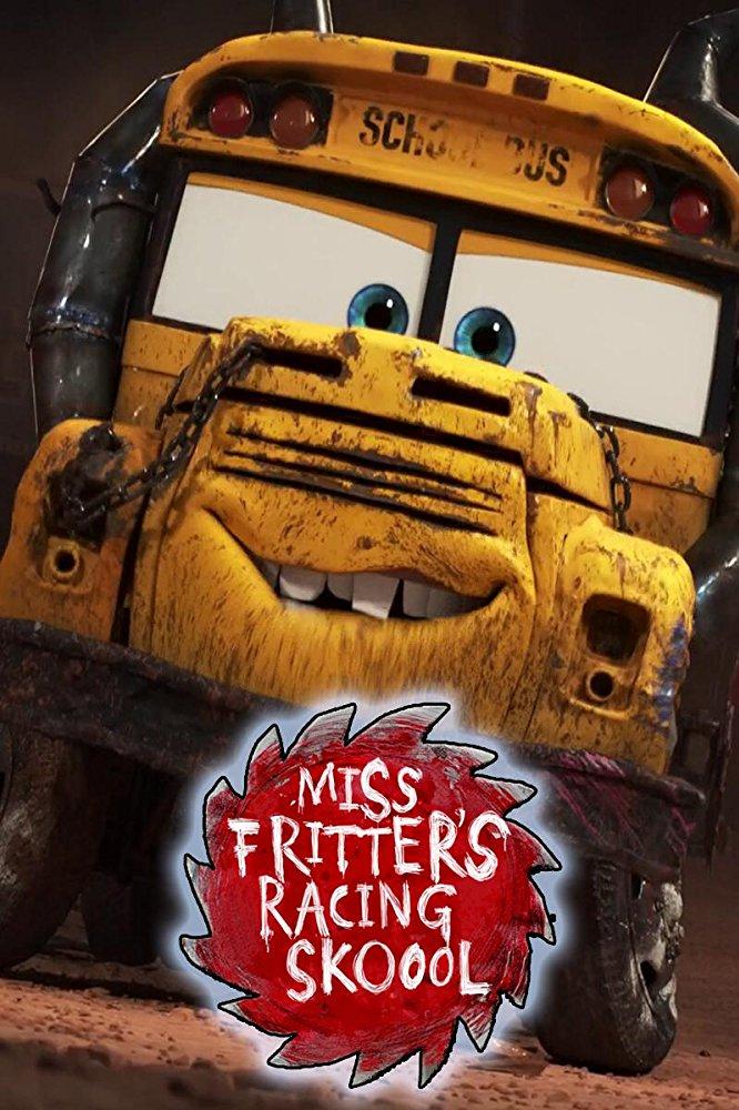 affiche poster école pilotage miss fritter racing school disney pixar