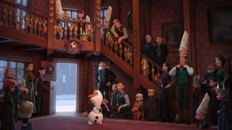 capture reine neige joyeuse fete olaf frozen adventure disney