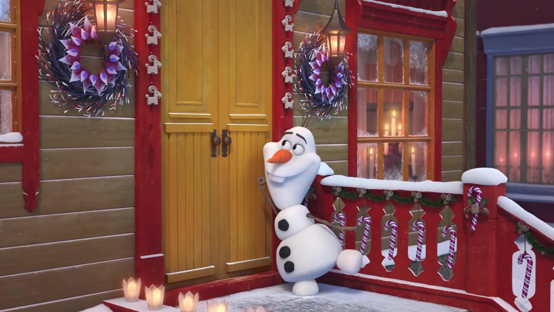 capture reine neige joyeuse fete olaf frozen adventure disney