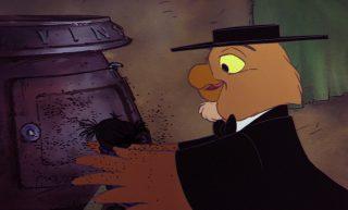 Deacon Owl hibou personnage character disney aventures bernard bianca rescuers