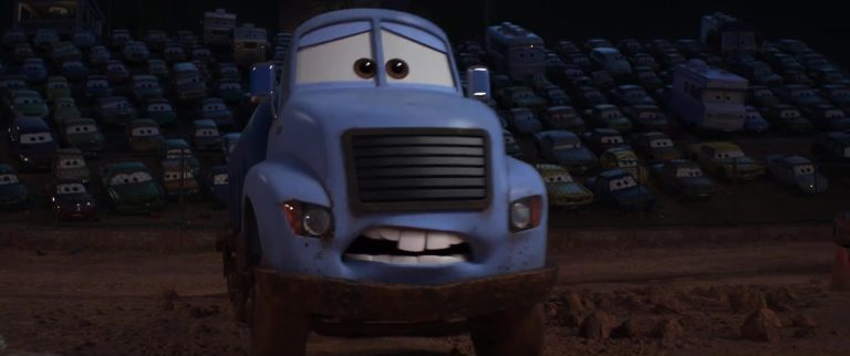 "Monsieur Drippy, personnage dans ""Cars 3""."