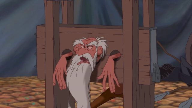 prisonnier prisoner heretic  personnage bossu notre-dame disney character hunchback